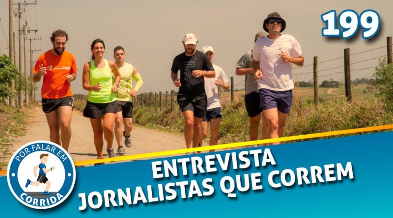 jornalistas que correm